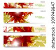 Autumn banner, vector illustration eps10 - stock vector