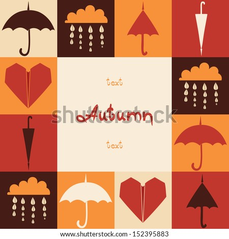 Autumn card with place for your text. Banner. - stock vector