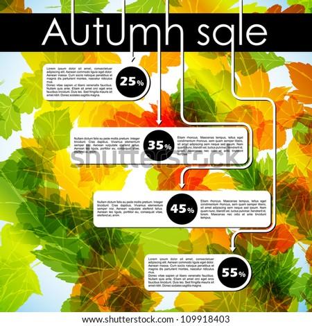 autumn discount sale, eps10 - stock vector