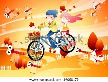 Autumn Fantasy - stock vector