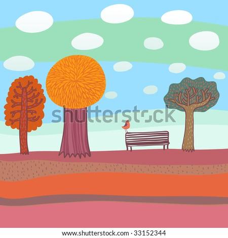 Autumn illustration - stock vector
