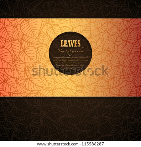 Autumn leaves banner made of fancy paper, vector eps8 illustration - stock vector