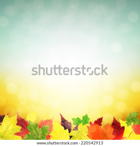Autumn Leaves Poster With Gradient Mesh, Vector Illustration - stock vector