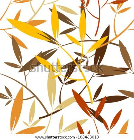 Autumn leaves - seamless pattern - stock vector
