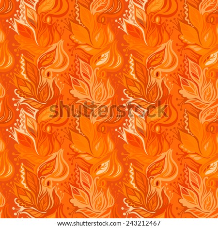 Autumn leaves seamless pattern-model for design of gift packs, patterns fabric, wallpaper, web sites, etc. - stock vector