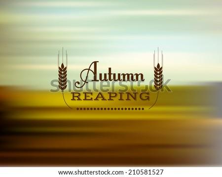 Autumn reaping - stock vector