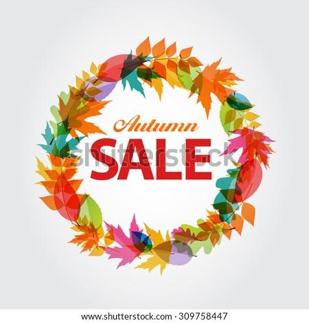 Autumn Sale Concept Vector Illustration EPS10 - stock vector