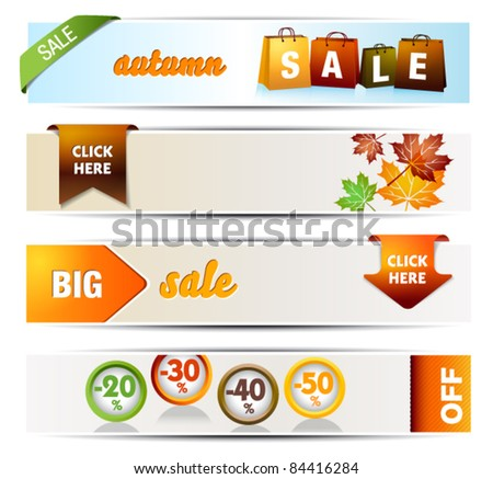 Autumn Sales Banners - stock vector