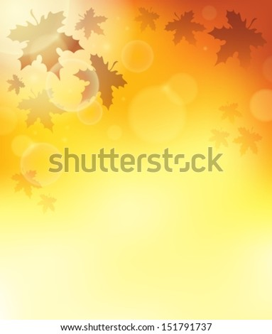 Autumn theme background 3 - eps10 vector illustration. - stock vector