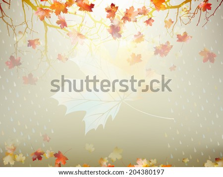 Autumnal maple leaf background made of triangles. And also includes EPS 10 vector - stock vector