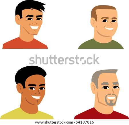 Avatar Icon SET 3 - Cartoon portrait clipart illustratoin Collection. - stock vector
