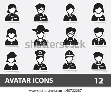Avatar icons,vector - stock vector