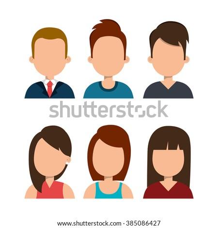 avatar person  design  - stock vector