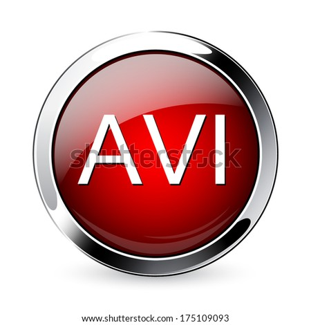 Avi icon. - stock vector