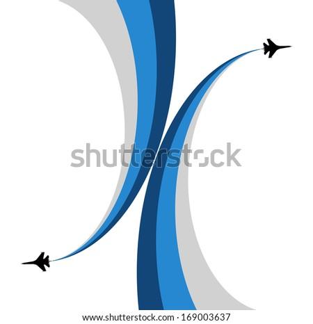 Aviashow-Airplane symbol vector design - stock vector