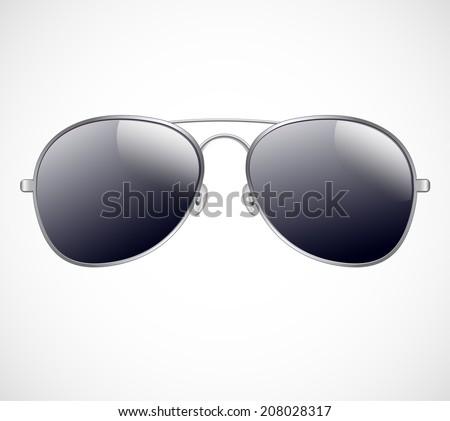 Aviator sunglasses vector illustration background - stock vector