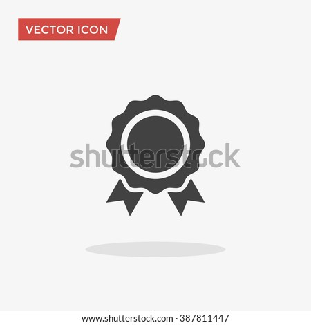 Award Icon in trendy flat style isolated on grey background. Badge symbol for your web site design, logo, app, UI. Vector illustration, EPS10. - stock vector