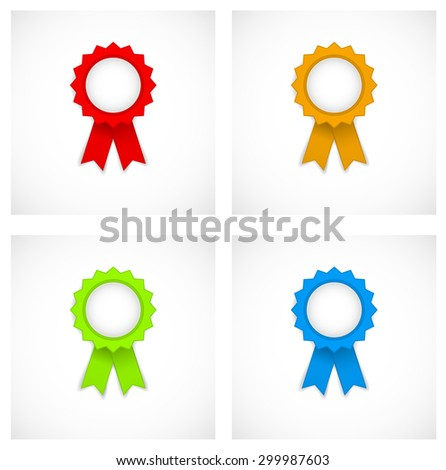 award label colored icon - stock vector