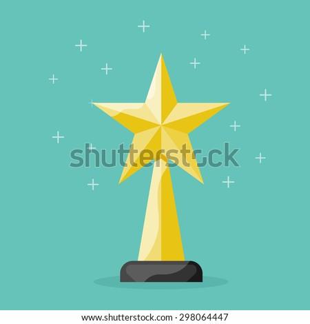 Award. Star design concept - stock vector