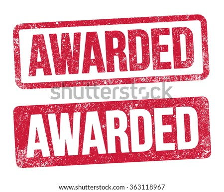 Awarded red stamp - stock vector