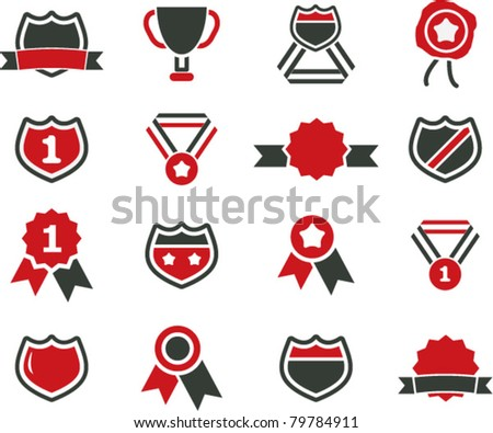 awards icons, signs, vector illustrations - stock vector