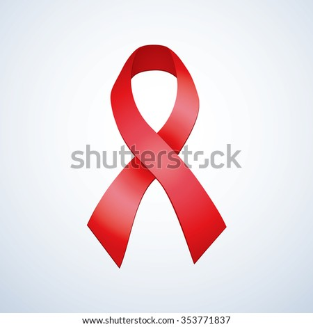 Awareness issue logo loop mean day unity protest against drug and association preserv of human living with STI virus. Sida global world fund trophy bow magnet medal isolated on white space for text - stock vector