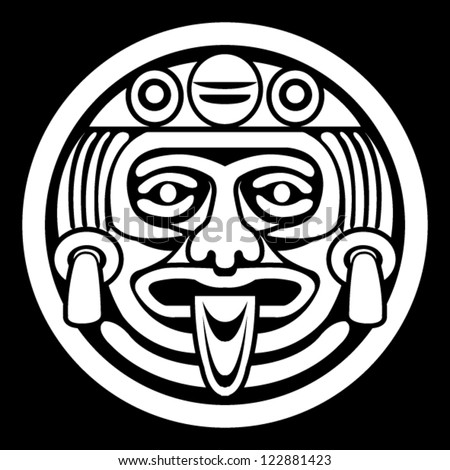 Aztec Face Mask - stock vector