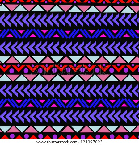 aztec pattern - stock vector