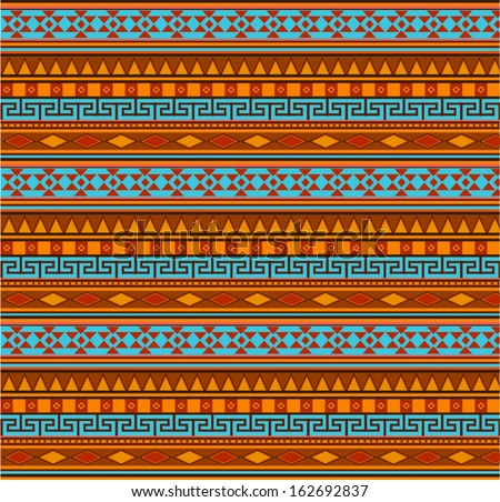 Aztec pattern vector background - stock vector