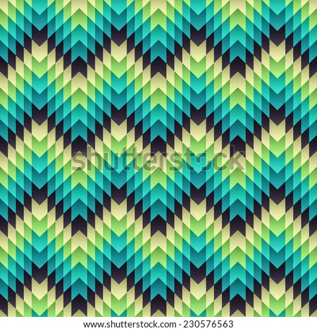 Aztec seamless pattern. Vector - stock vector