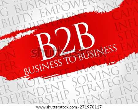 B2B (Business to Business) word cloud, business concept - stock vector