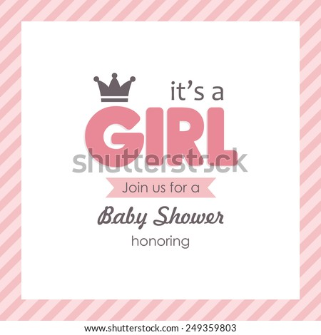 baby announcement card. vector illustration - stock vector