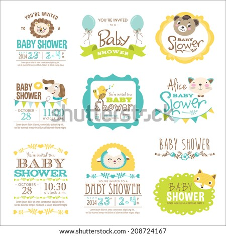 Baby Arrival and Shower Collection  - stock vector