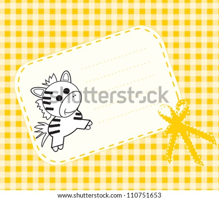 Baby arrival card with funny elements/ Vector illustration - stock vector