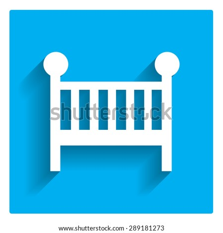 Baby bed icon - stock vector