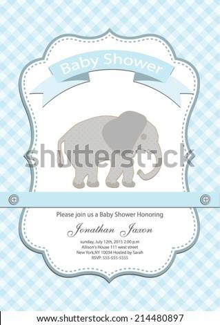 baby boy baby shower invitation card. Vector eps10,illustration. - stock vector