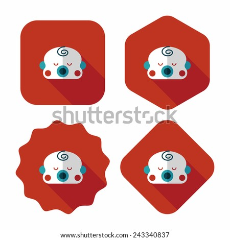 baby boy flat icon with long shadow,eps10 - stock vector