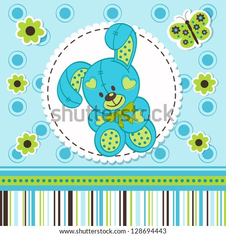 baby boy rabbit - stock vector
