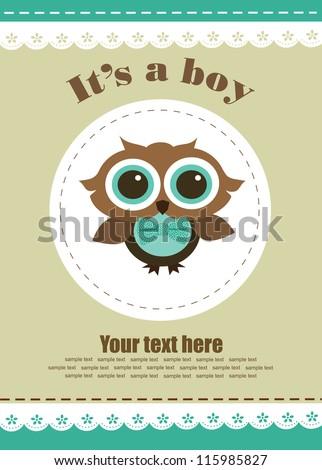 baby boy shower design. vector illustration - stock vector