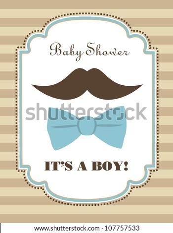 baby boy shower. vector illustration - stock vector