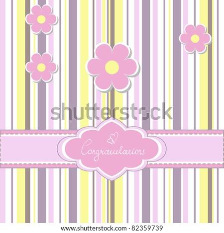 Baby card (vector version eps 8) - stock vector