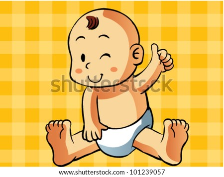 baby cartoon - stock vector