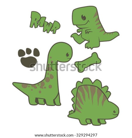 Baby Dinos - stock vector