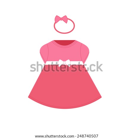 Baby dress - stock vector