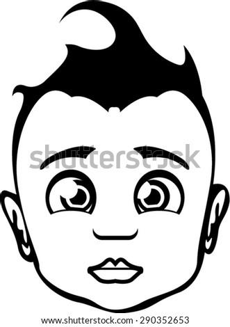Baby Face Vector - stock vector
