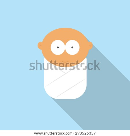 baby flat icon - stock vector