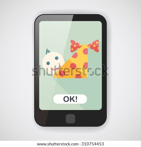 baby flat icon with long shadow,eps10 - stock vector