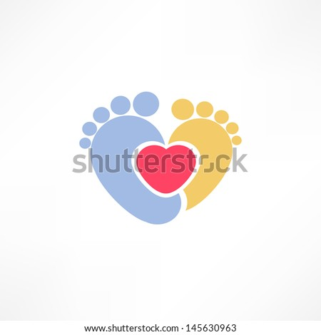Baby foot - stock vector