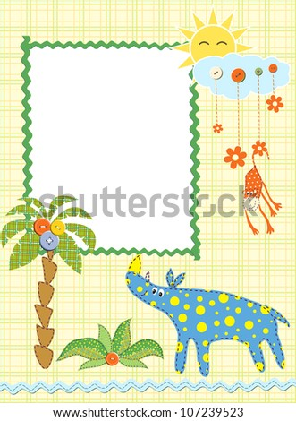Baby frame or card. Vector illustration - stock vector