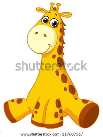Baby giraffe - stock vector